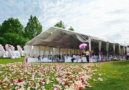 明星夫妇结婚办的户外婚礼,必须get到清新浪漫的婚礼篷房实用点