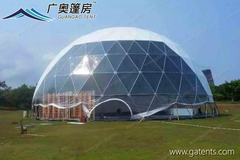 半透明球形篷房07