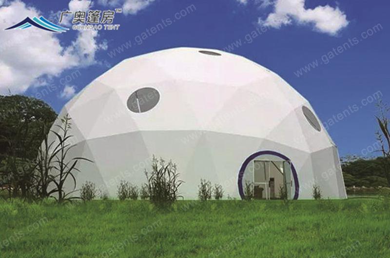 白色全封球形篷房13