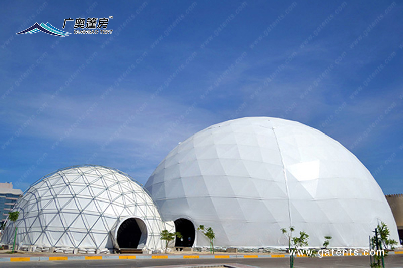 全白球形篷房16
