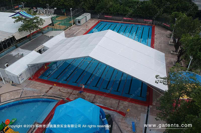 广东广州海珠区星汇园游泳池帐篷篷房案例