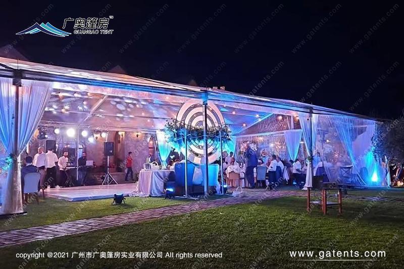 阿尔及利亚透明宴会篷房案例