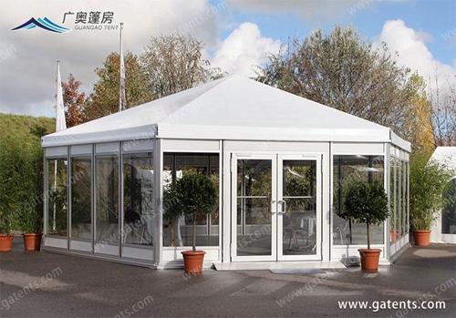 篷房厂家:讲解玻璃篷房结构组成形式